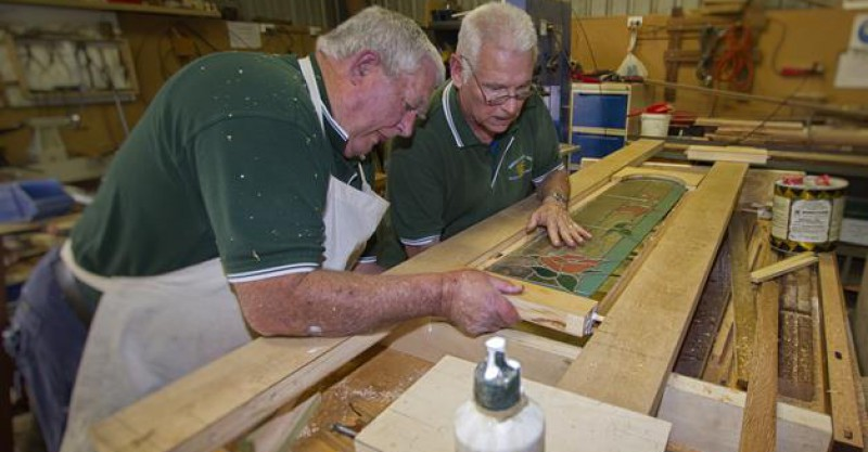 Working in the Men's Shed
